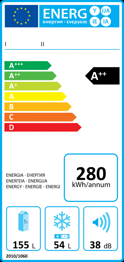 A picture showing an Energy efficiency label with the EU Logo in article discussing UK right to repair law to come in the summer of 2021