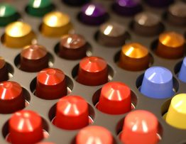 Image of a tray of coffee pods.