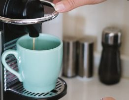 Image of a coffee being made.