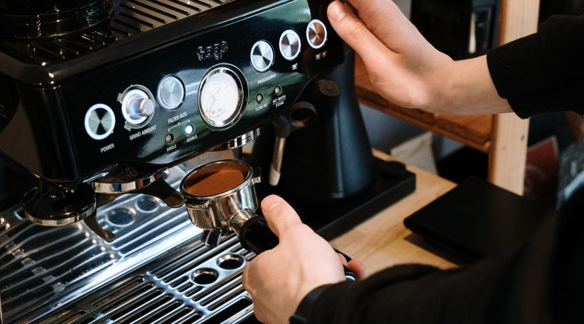 Image of a sage coffee machine.
